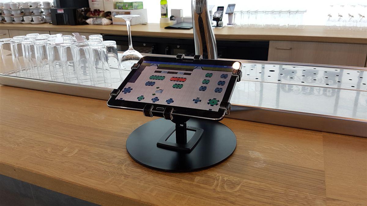 Gripzo, gripzo.com, freestanding footplate, white, black, mobile, movable, tablet, holder